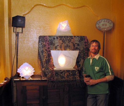 Alan Tollakson and lighted stone sculptures