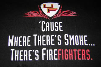 Unruh Fire t-shirt back