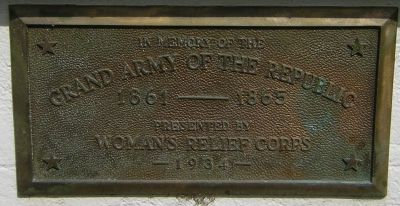 plaque - Grand Army of the Republic 1861-1865